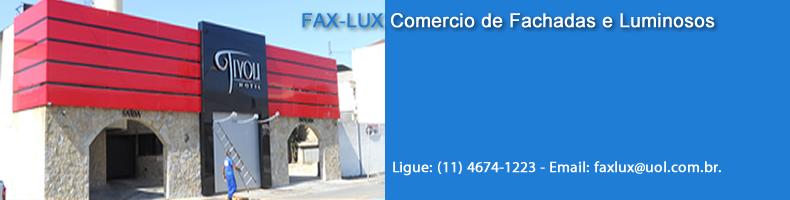 FAX-LUX Fachadas, Luminosos, Coberturas, Toldos e Cortinas na zona Leste